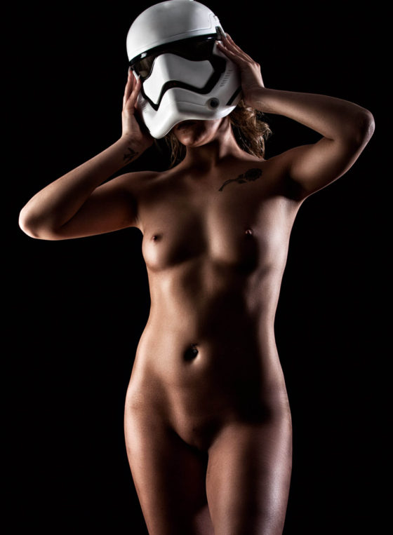Undressing the storm trooper with Michaela